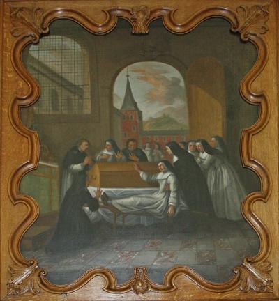 Genezing van een zieke bij de relieken van de heilige Odilia van Hoei