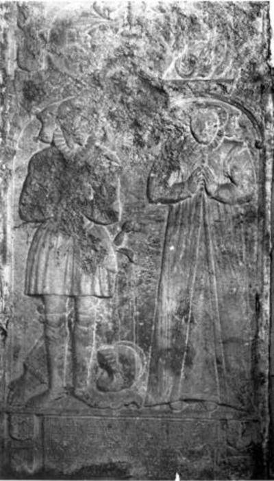 Grafsteen van François de Borchgrave en Barbara van Walthausen