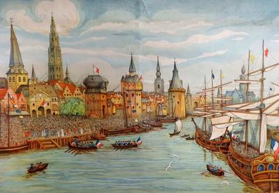 55. De Schelde vrij: Franse schepen varen de Schelde op in 1792