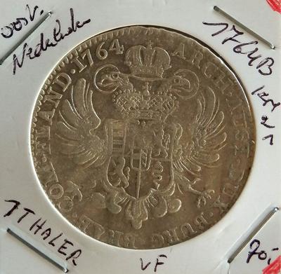 1 Kroon, geslagen te Brussel, 1764, Maria-Theresia, zilver