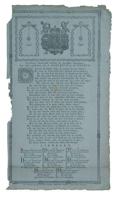 Goedhertig nieuw-Jaer gedicht der Lovensche handuyten, door liefde geschonken aen de borgerye en overheyd