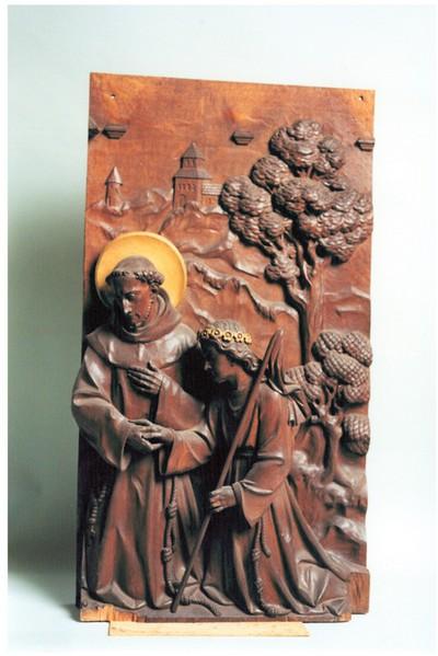 Heilige Franciscus van Assisi getroost door een engel