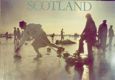 Scotland: a special occasion for winter sports lovers in Scotland - The Grand Match of the Royal Caledonion Curling club in 1979, with over 6000 people on the ice of Lake Menteith in the Trossachs
