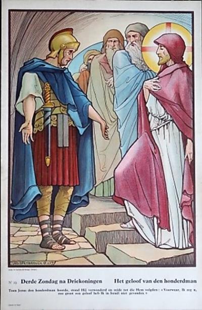 Prent 23: Het geloof van den honderdman