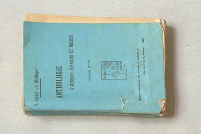 Anthologie d'auteurs français et belges à l'usage de l'Enseignement moyen