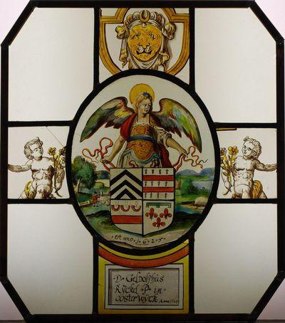 Wapenschild van abt Jozef Geldolf van Rijckel