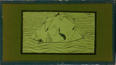 Overstroming met vluchtheuveltje voor de mollen