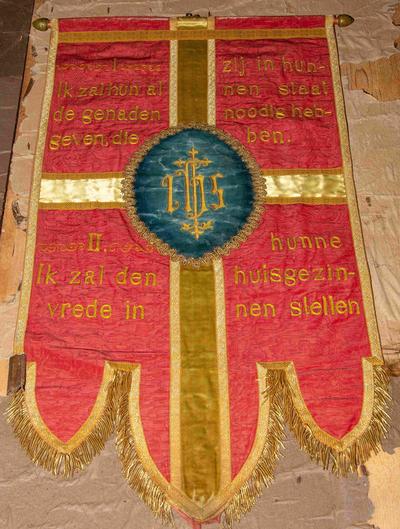 Zes processievaandels van de twaalf beloften van het Heilig Hart