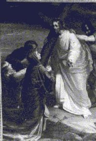 4e statie van de kruisweg, Jezus ontmoet zijn moeder