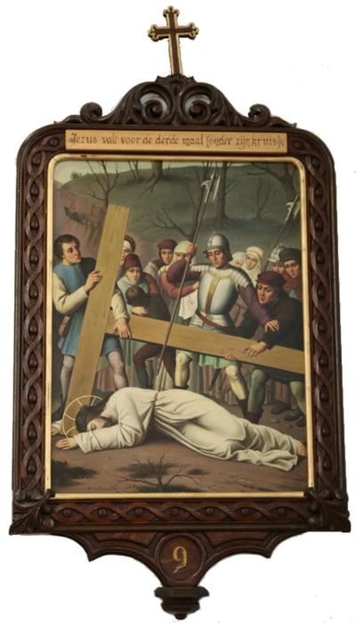 Statie 09: Jesus valt voor de derde maal (achter zijn kruis).