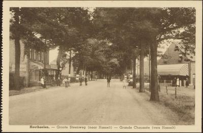 Houthaelen. Groote steenweg (naar Hasselt). Grande chaussée (vers Hasselt)