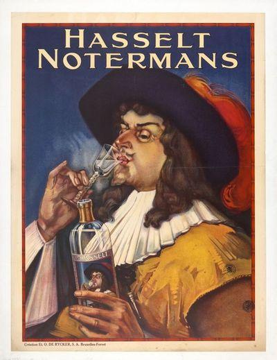 Affiche 'Hasselt Notermans' voor stokerij Notermans, Hasselt, 1927