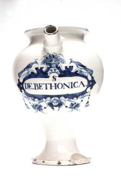Delfts blauwe apothekerspot; S DE.BETHONICA.