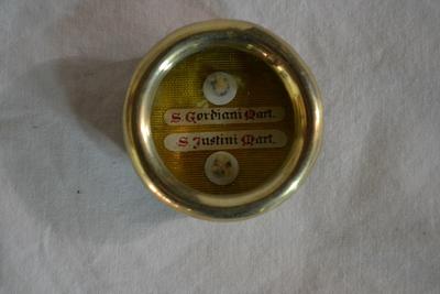 Reliekhouder van S. Gordiani en S. Justini