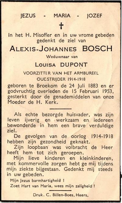Doodsprent van Bosch Alexis