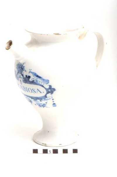 Delfts blauwe apothekerspot; S DE.SCABIOSA.