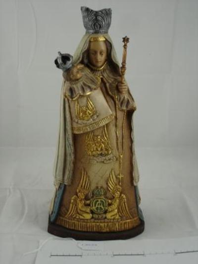 Mariabeeld met kindje Jezus en scepter