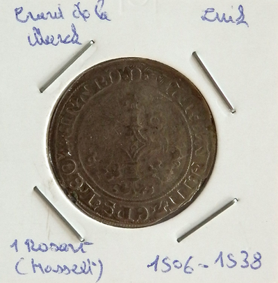 1 Rozart, geslagen te Hasselt, 1506-1538, Everaart van der Marck, zilver