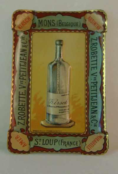 Asbak 'Z. Robette, Vve Petitjean & Cie, Mons', voor Robette, Brussel, ca. 1900-1920
