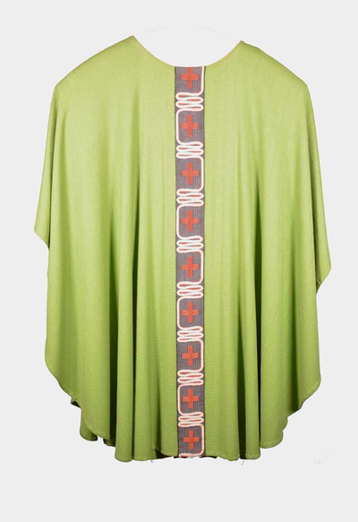 Groen kazuifel met bijhorende stola