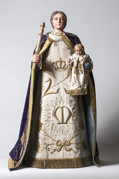 Staakbeeld van Onze-Lieve-Vrouw met kind