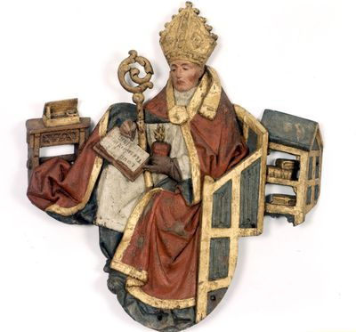 De heilige Augustinus van het triomfkruis in de Sint-Pieterskerk
