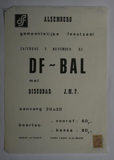 Affiche voor het DF-bal