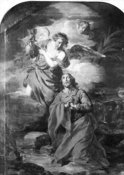 Engel troost Jezus in Hof van Olijven