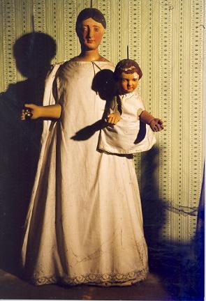 wit beeld met Kind