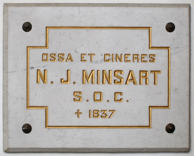 Twee grafplaten van Joseph Minsart