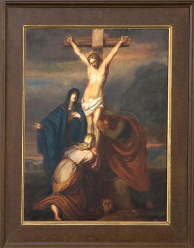 Schilderij kruisweg twaalfde statie