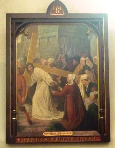 Statie 8: Jezus troost de wenende vrouwen.