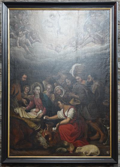 Schilderij 'Aanbiding der herders'