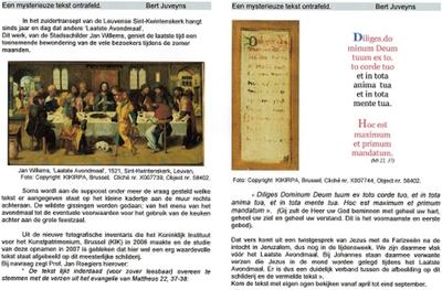 Publicatie over schilderij Het Laatste Avondmaal van Jan Willems