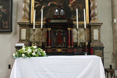 Tabernakel op het altaar van Sint Anna-ten-Drieën