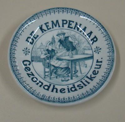 Onderzetter 'De Kempenaar Gezondheidslikeur', voor Neefs, Antwerpen, ca. 1900-1920