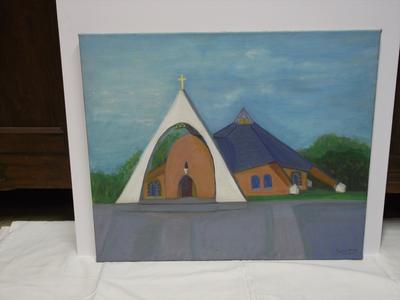 Schilderij OLV Maagd der Armen kerk