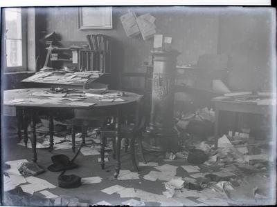 Duitse terugtocht. Vernielingen Herk-de-Stad (1918).
