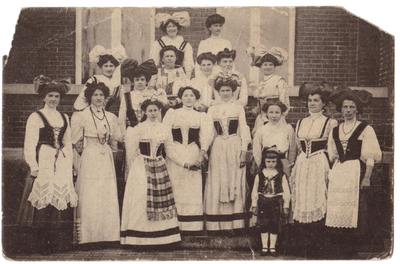 Landen, Kermesse flamande, Mai 1910, Vlaamsche kermis, Mei 1910