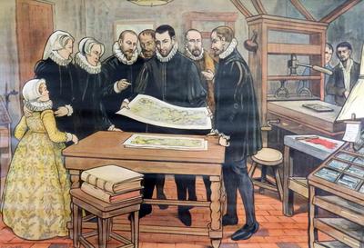 53. Plantijn drukt het meesterwerk van Mercator