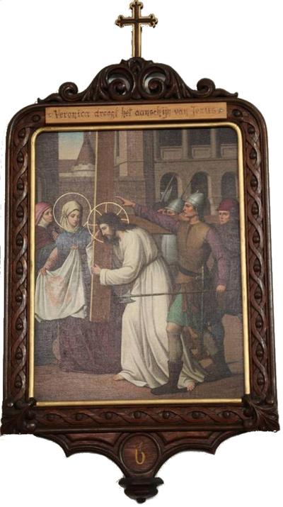 Statie 06: Veronica droogt het aanschijn van Jesus.