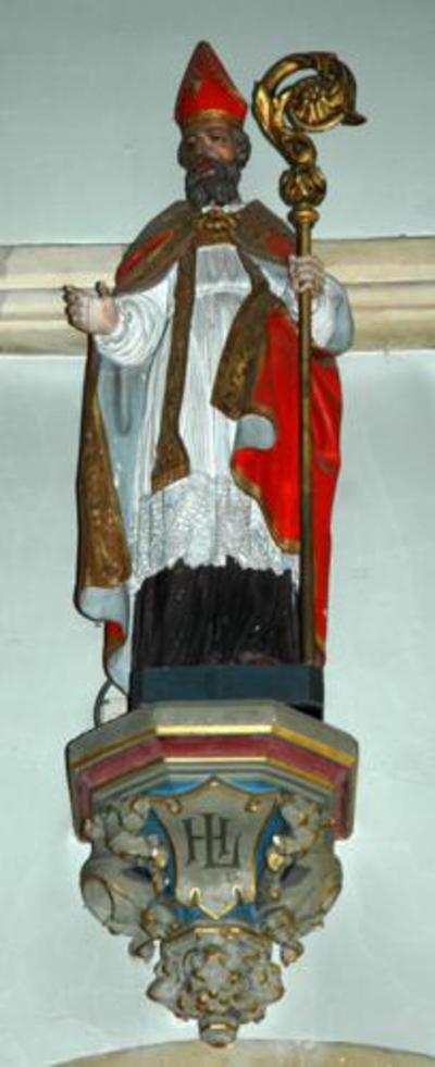 Houten beeld van Heilige Lambertus