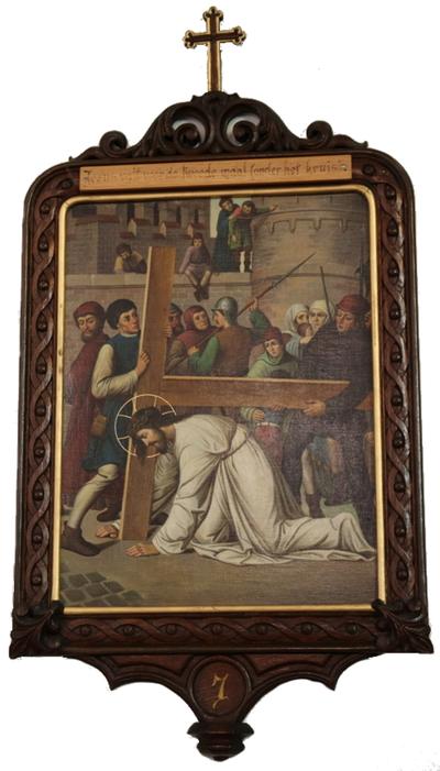 Statie 07: Jesus valt voor de tweede maal (achter zijn kruis).