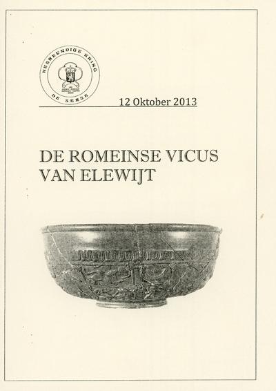 De Romeinse vicus van Elewijt