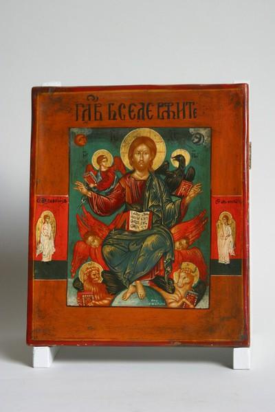 Christus op de troon met de vier evangelisten