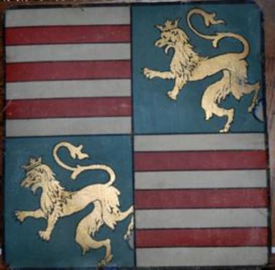 Origineel wapenschild van Pius IX, paus van 1846 tot 1878.