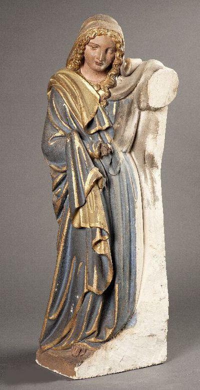 Maria uit een beeldengroep met de presentatie van Jezus in de tempel