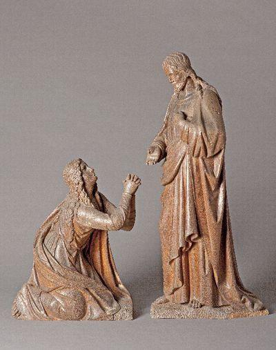 Christus uit een groep met de overspelige vrouw