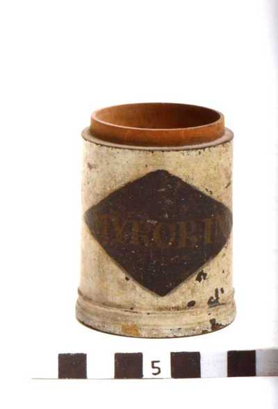 houten pot; MYROB: IN: