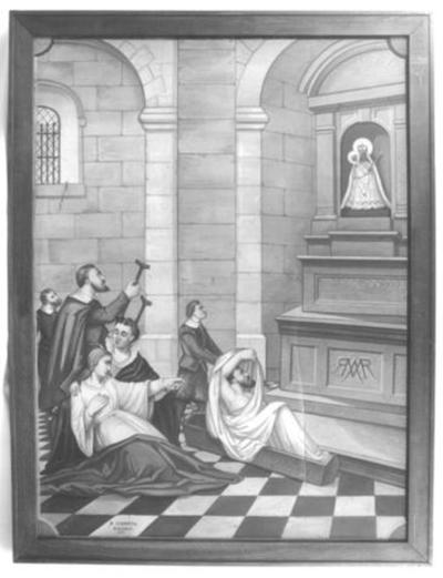 Zesdelige schilderijencyclus over de mirakelen van de Virga Jesse